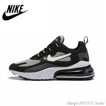 Nike Air Max 270 React New Arrival Men Running Shoes Air Cushion Outdoor Sports Sneakers Comfortable AO4971-001 nike vapormax men running shoes new arrival full palm air cushion comfortable ventilation bradyseism sneakers aq8810 001