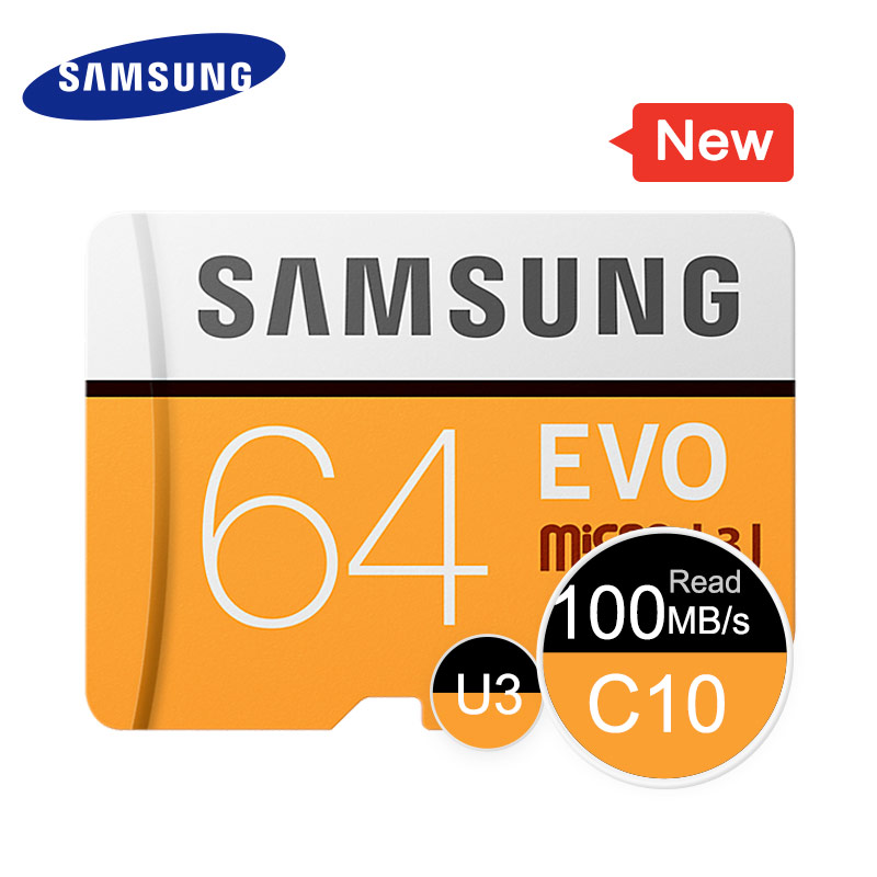 SAMSUNG Memory Card EVO 32GB 64GB 128GB 256GB SDHC TF MicroSD Class 10 Micro SD C10 MB-MP64GA TF Trans Flash Micro SD