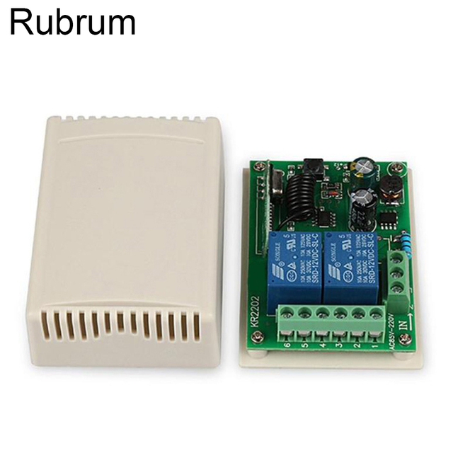 Rubrum 433Mhz AC 250V 110V 220V 2CH RF Relay Receiver Module Universal Wireless Remote Control Switch For 433 Mhz Remote Control