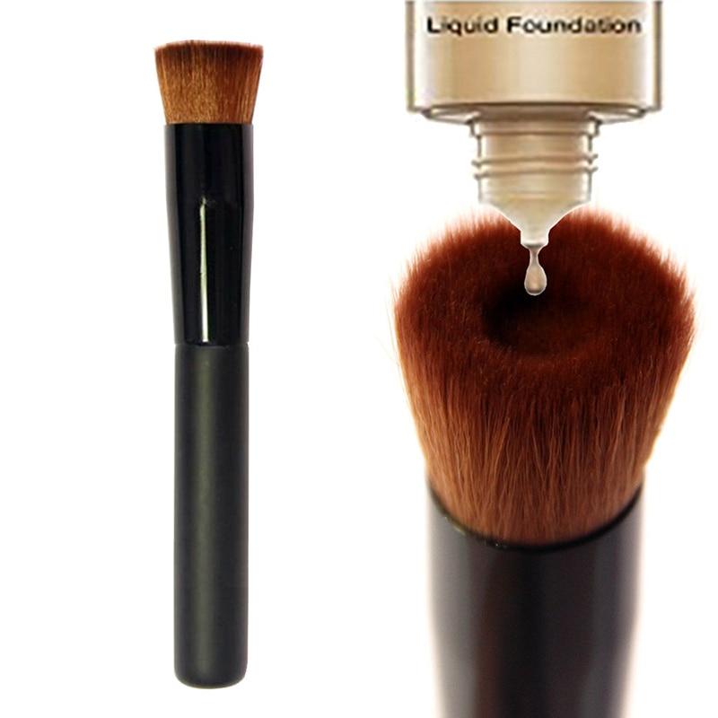 1 pçs novo preto côncavo líquido fundação escova bb creme maquiar pincel profissional fazer maquiagem único ferramentas escovas beau i0g5