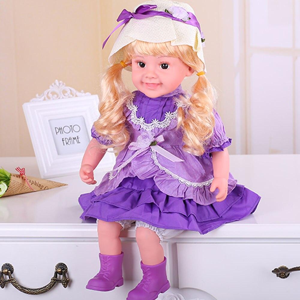 Joli enfants bébé poupée cadeau parlant chantant clignotant fille reborn bébé poupées bebe reborn enfants jouets cadeaux