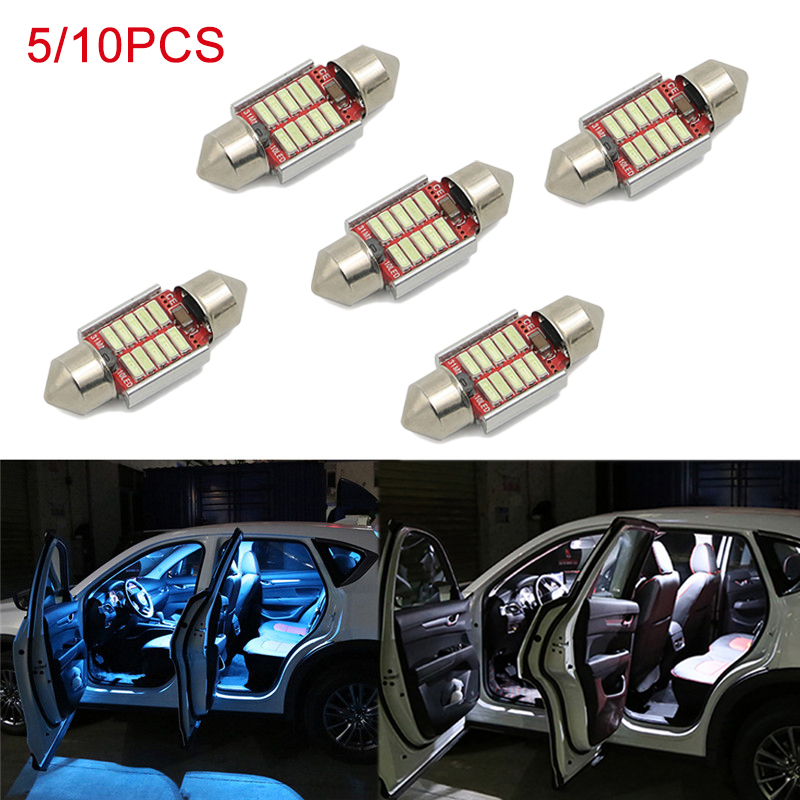 <font><b>5</b></font>/10pcs Auto LED Bulbs Car Interior Lighting Dome Reading Lights White Indoor Lamp Bulb For Mazda CX-<font><b>5</b></font> CX5 CX <font><b>5</b></font> <font><b>2017</b></font> 2018 2019 image