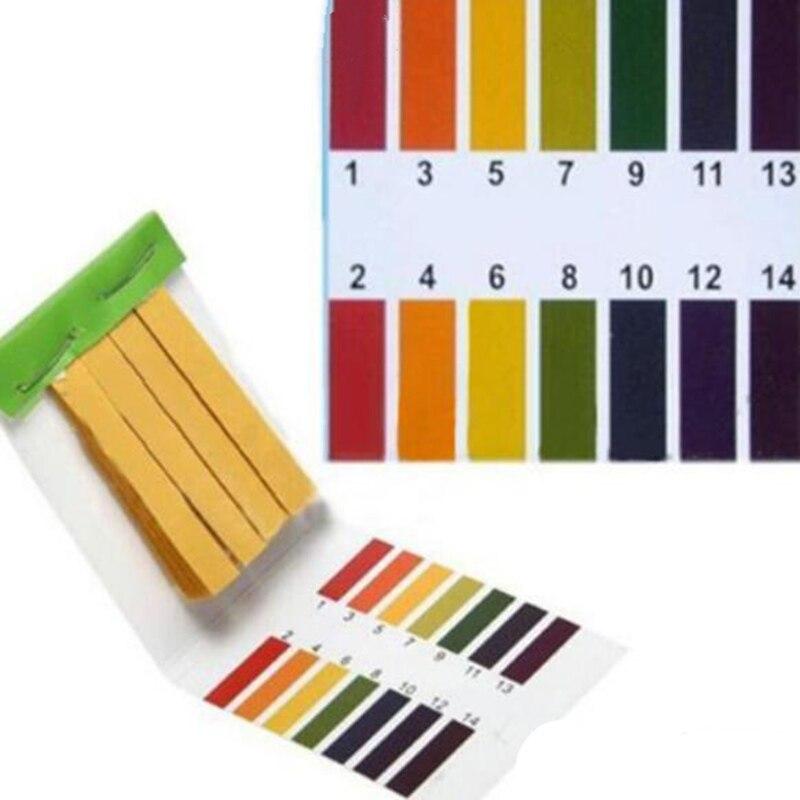 1 conjunto = 80 tiras! teste de água da lagoa do aquário da tira do teste do ph papel completo do teste do ácido alcalino da escala 1-14