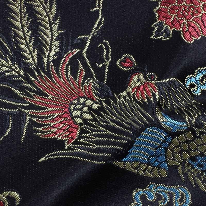 135Cm Rồng Và Phượng Hoàng Thanh Katana Samurai Thanh Kiếm Túi Tissu Đen