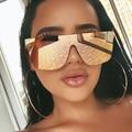 Silber Spiegel frauen sonnenbrille marke designer Vintage Sonnenbrille Männer Luxus Übergroßen Quadratischen Shades UV400 Glam Brillen 2020
