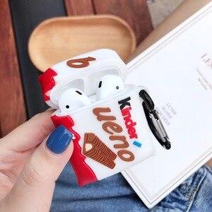 Новый kinder chocolate беспроводной Bluetooth чехол для наушников для AirPods 2 1 милый на удивление bueno Box 3D Мягкий силиконовый чехол для гарнитуры