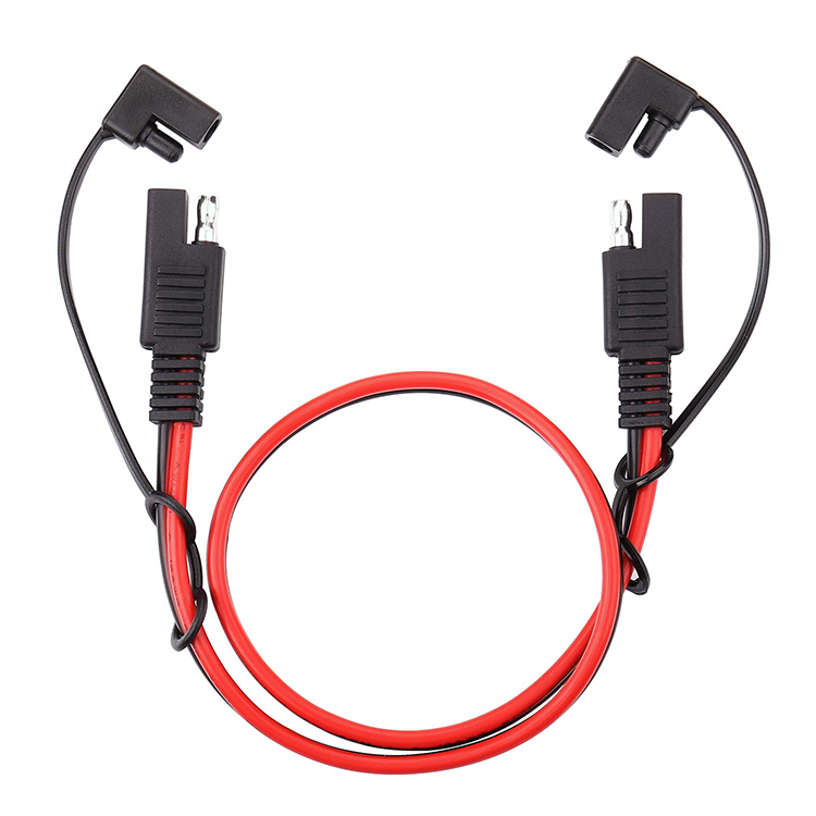 SAE Power Automotive Extension Cable,Sae 2 Pin Bullet Quick Connect 16awg Heavy Duty Wire Harness with Waterproof Cap 4FT