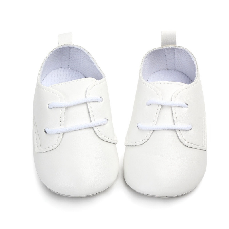 Fashion PU Leather Baby Shoes With Air Hole Anti Slip Unisex Footwear First Walkers For 0-12M Y13