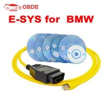 E-SYS для BMW F-series ICOM OBD2 кодирующий диагностический кабель Ethernet к OBD ESYS данные OBDII E-SYS кодирование скрытый инструмент ENET данных