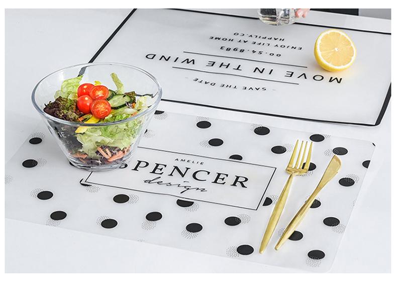 Коврик для еды в западном стиле 1 шт коврик кухонного стола