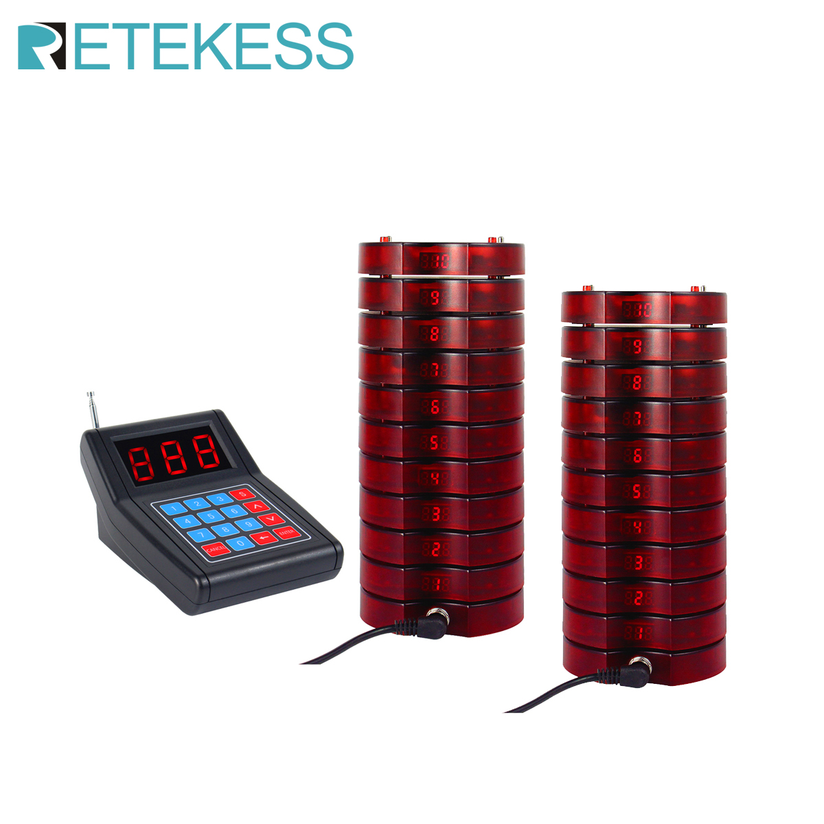 Retekess SU-668 ресторан пейджер Беспроводная система Paging с 20 пейджерами жужжеры для больниц еда грузовик Ресторан оборудования