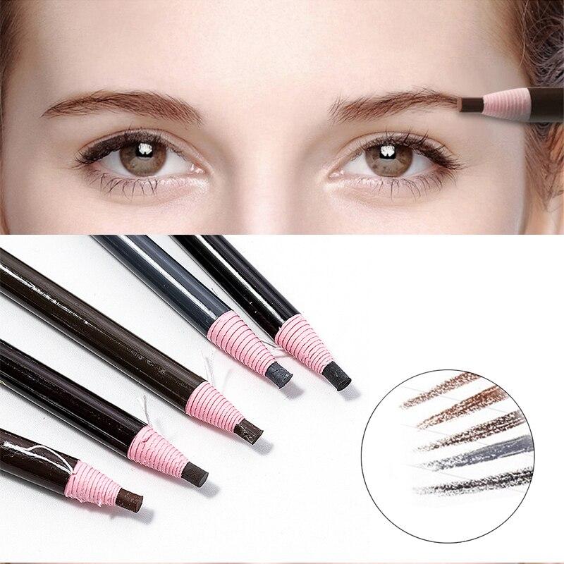 5 Colors 2019 Eyebrow Pencil Waterproof Microblading Pen Long-lasting Eyebrow Enhancer Easy Wear Eye Brow Tint Dye Makeup Tools