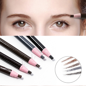 5 Colors 2019 Eyebrow Pencil Waterproof Microblading Pen Long-lasting Eyebrow Enhancer Easy Wear Eye Brow Tint dye Makeup Tools