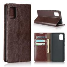 Naturalne prawdziwej skóry klapki portfel książka telefon skrzynki pokrywa dla Samsung Galaxy A21s A31 A51 A71 A 21s 31 51 71 64/128 GB