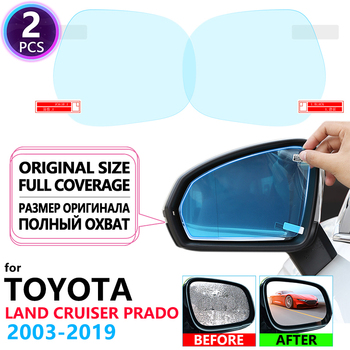 Full Cover Anti Fog Rainproof Film Rearview Mirror Films for Toyota Land Cruiser Prado 120 150 J120 J150 2003~2019 Accessories image