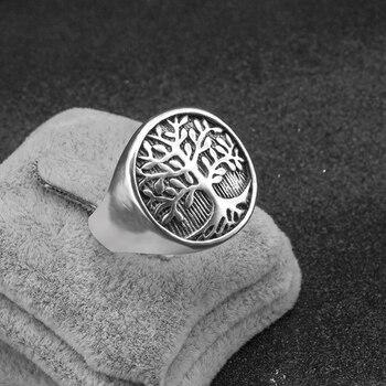Bague viking arbre argent