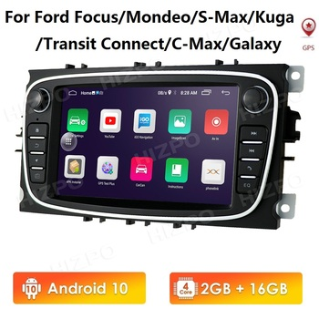 2G RAM 16G ROM 7'' 2 Din Android 10 Car Radio For Ford Mondeo S-max Focus C-MAX Galaxy Fiesta transit Fusion Connect kuga BT SWC image