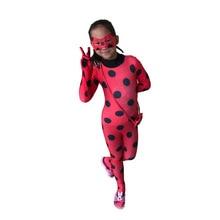 Fantasia Kids Adult Lady Bug Costumes Girls Women Child Spandex Ladybug Costume Jumpsuit Fancy Halloween For