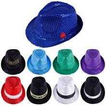 Для мужчин и детей Панама шапки с блестками костюм для выступления