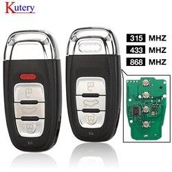 Kutery inteligentny klucz zdalny centralny zamek z 3/4 przycisk 315MHz/433MHZ/868MHZ 8T0 959 754C dla Audi Q5 A4L A5 A6 A7 A8 RS4 RS5 S4 S5