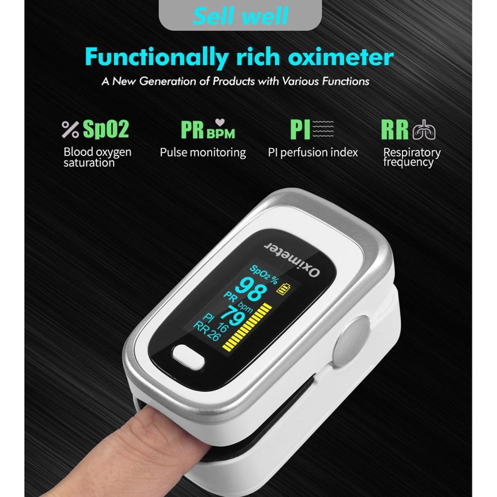 JZ-130R Finger Oximeter Fingertip Pulse Oximeter Medical Equipment With Sleep Monitor Heart Rate Spo2 PR Pulse Oximeter