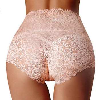 Women Panties  Lace Underwear Woman Knickers Lace Panties Mesh Floral Lingerie Female Seamless Briefs Underpants Plus Size