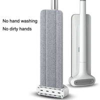Hands-Free Xiaomi Flat Mop  Wash for Floor Clean Magic House Cleaning Mops Cleaner Tools Lazy Home Squeeze Microfiber Fabric