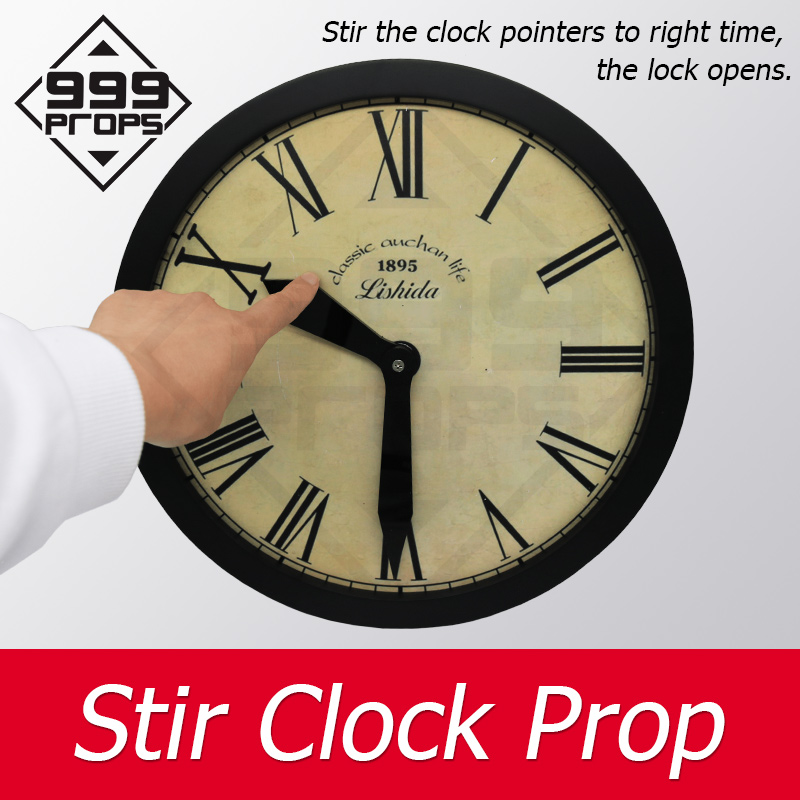 999PROPS Clock Prop Real Life Room Escape Stir The Clock In Certain Time To Unlock Chamber Game