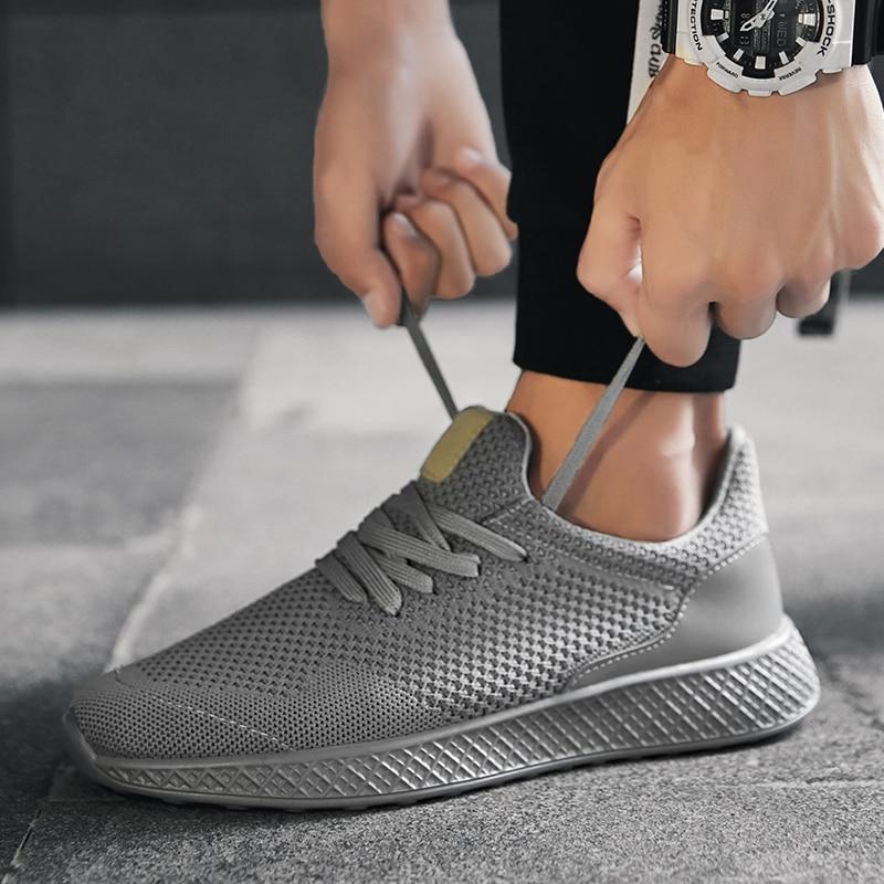 Hommes chaussures plein air chaussures de loisir à la mode pour hommes été maille confortable marche chaussures léger Jogging homme baskets grande taille 45 48