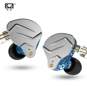 Image 4 - KZ ZSN פרו באוזן אוזניות 1BA + 1DD היברידי טכנולוגיה HIFI בס מתכת אוזניות אוזניות ספורט רעש מבטל אוזניות צג