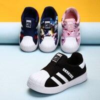 Obuwie dziecięce dla dziewczynki trampki chłopcy nastoletnia marka klasyczne białe buty miękkie Chaussure Enfant Sport adidasy do biegania trener dziecięcy w Trampki od Matka i dzieci na