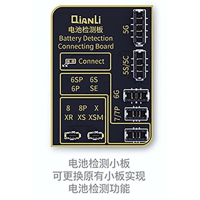 QIANLI iCOPY el panel de detección de la batería se puede reemplazar para realizar la función de detección de la batería. Es adecuado para iphoneKits de herramientas eléctricas