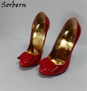 Image 4 - Sorbern White Women Pump High Heel Shoe Stilettos Custom Color For Every Party Shoe Staple Heels 12Cm 13Cm 14Cm 15Cm 16Cm 18Cm