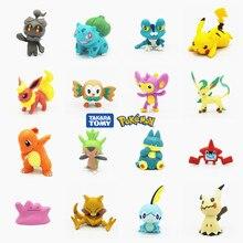 Tomy-figuras de acción de Pokémon, juguetes de 3-7cm, Charmander, Squirtle, Pikachu, Bulbasaur, Eevee, Vulpix, Snorlax, Meowth, Snorlax