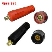 4pcs TIG Welding Cable Panel Connector Accessory Plug Socket DKJ10-25 & DKZ10-25 Welding Machine Quick Fitting Connector