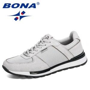 Image 5 - بونا 2020 جلد الغزال الرجال احذية الجري Zapatillas Hombre Deportiva رجل الدانتيل متابعة الركض أحذية رياضية الرجال أحذية رياضية مريحة
