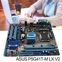 Asus P5G41T-M lx v2 placa-mãe ddr3 8gb, g41 P5G41T-M lx v2 x16 computador desktop mainboard pci-e vga p5g41t usado