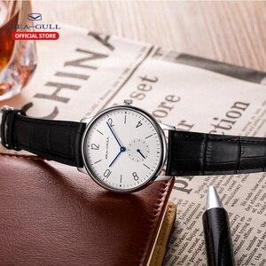 Image 5 - Seagull Marke Uhr ultra dünne mechanische uhr damen uhr mode business leder uhr D 819,612 L