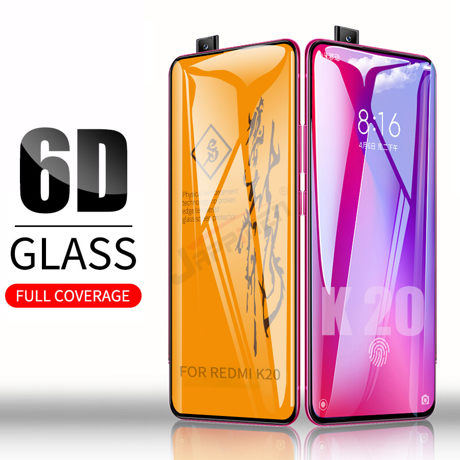 6D Full Glue Cover Tempered Glass For XiaoMi Mi 9T Pro Redmi K20 Screen Protector Protective Film For Redmi K20 Note 8 Pro Glass luces led de policía