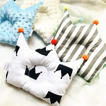 Newborn Baby Flat Head Pillow Nursing Pillow Infant cartoon pillow Head Positioner Cotton Comfortable YCZ047(China)