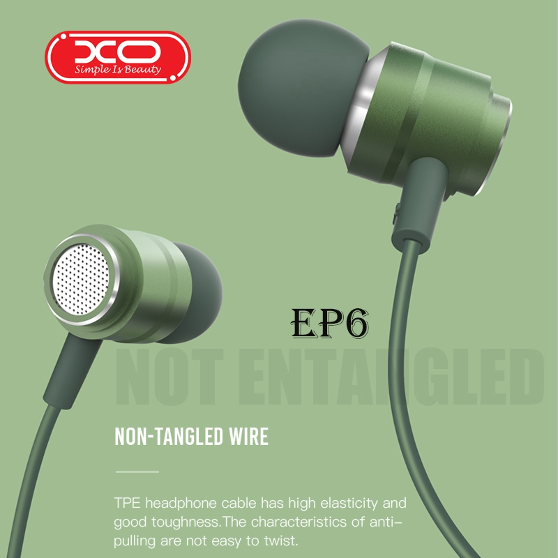 XO EP6 Sport Earphone Wholesale Wired Super Bass 3.5mm Crack Colorful Headset Earbud With Microphone Hands Free For Samsung S3