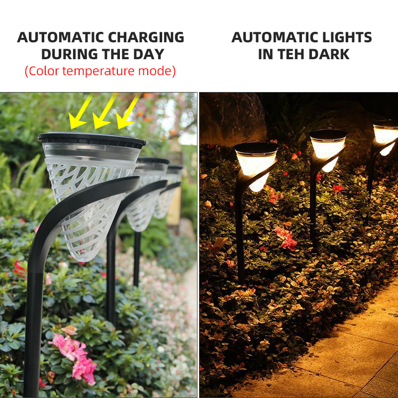Solar LED Lights Garden Wall Path Yard Landscape Light Christmas Outdoor Lights