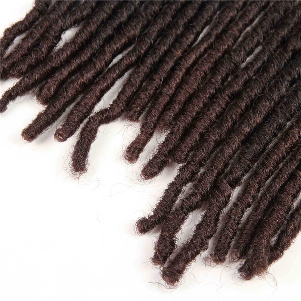 Włosy syntetyczne do warkoczy rozszerzenia Dreadlocks Ombre brązowy kolor X-TRESS miękkie proste Faux Locs szydełkowe warkocze włosy dla kobiet