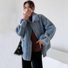 Shearing Jacket Coat Women Faux-Lamb-Fur Warm Autumn Winter Casual Outerwear Female