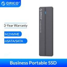 Hard-Drive Msata Ssd ORICO Type-C Portable NVME 256GB 512GB 128GB with USB