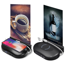 20000mAh Qi Wireless Charger Power Bank Built in 3 Cables Ex
