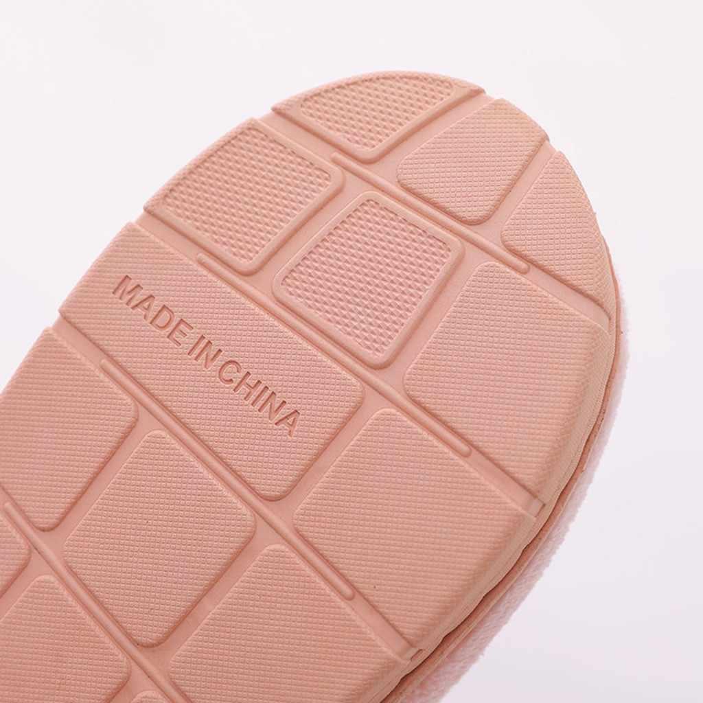 ผู้หญิงผลไม้ Flock Warm Non-slip รองเท้าแตะชายคู่รองเท้าในร่ม Plus ขนาด Slip บนรองเท้าแตะในร่ม zapatos de mujer