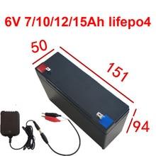 6V 7Ah 10Ah 12Ah 15Ah lifepo4 литиевая батарея для управления доступом в масштабе детская игрушка автомобильная лампа Самолет rc Танк+ 1.5A зарядное устройство