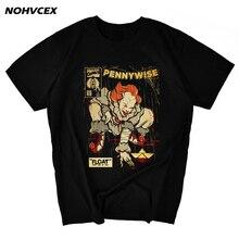 Pennywise taniec klaun to Film Film Retro Vintage Horror kult styl Harajuku śmieszne męskie koszulki Stephen King