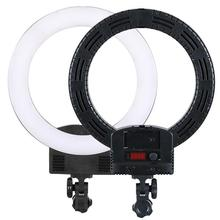 12 Upgrade Ultra-thin Infinity Dimming Double Color Temperature LED Ring Lamp White 1pc